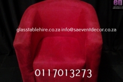 Red Single Seater  Tub Chair