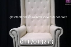 Cream King & Queen Chair