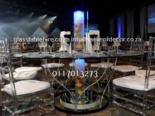 Glass & Steel Designer Table Bases