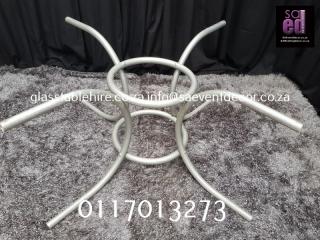 White Metal Round Designer Table Base
