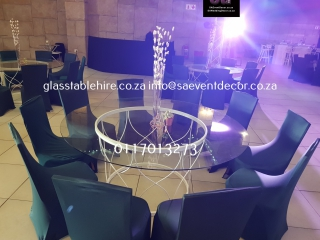 Glass Round Table Top & Designer Table Base