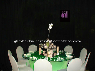 Glass round table with LED table base 14