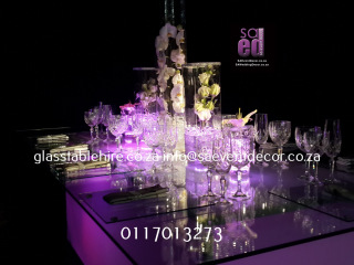 LED Tables & Glass Table Tops