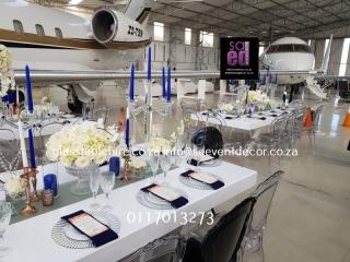 Lanseria Aeroplane Hanger - Opulant Sit Down Gala Dinner