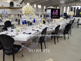 High Gloss White S-shaped Tables