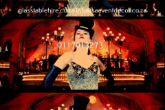 Themed Printed Moulin Rouge Backdrop Hire 14