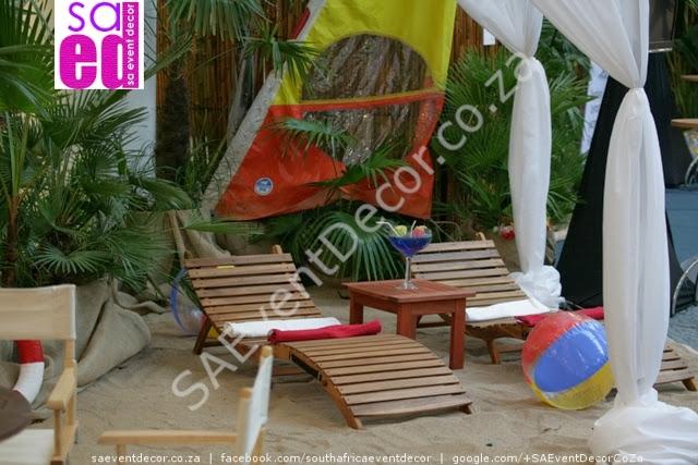 Beach function decor.