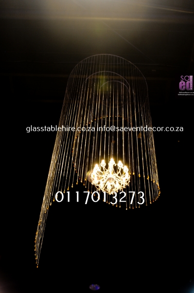 Vintage Chandeliers with Beaded In Circular Spiral