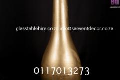 Gold Tulip Fiberglass Pot