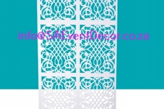 White CNC Laser Cut Wedding Wall Backdrop Hire From SA Event Decor