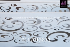 White CNC Laser Cut  Designer Table Base