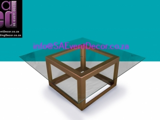 Gold Square Table Base Hire