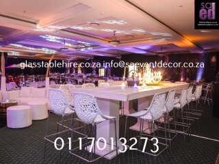 White High Gloss Table Rental White Plinth Hire White Flock Cocktail Chair Hire And Backdrop Rentals