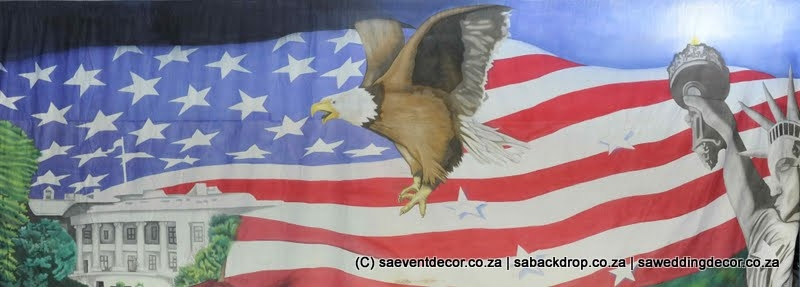 BacAro25  Around The World America Backdrop Hire