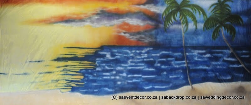 BacHaw02 Hawaii Beach Party Themed Backdrop hire