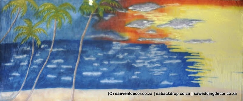 BacHaw03 Hawaii Beach Party Themed Backdrop hire
