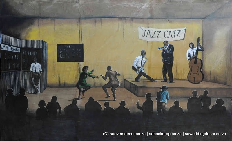BacJaz02 Jazz Themed Backdrop hire