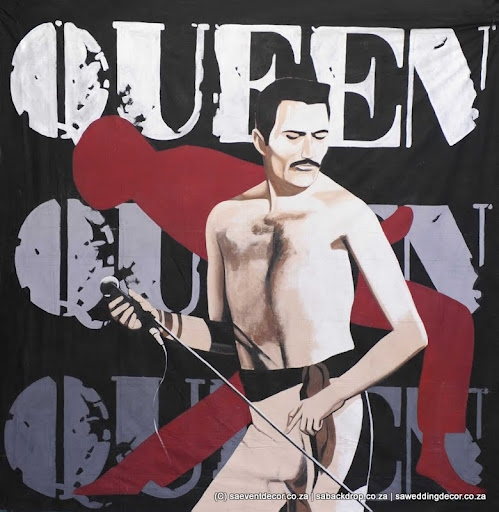 BacMus01 Musical Rock Roll Queen Themed backdrop Hire