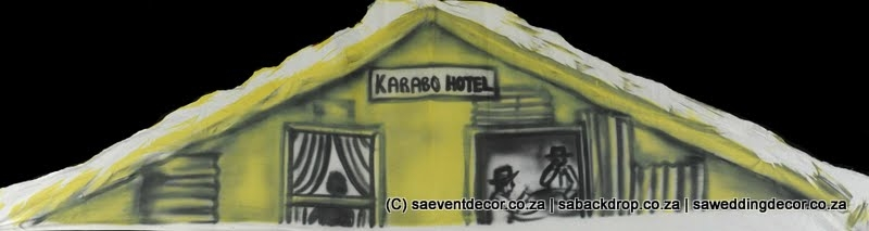 BacSop08 SophiaTown  Themed backdrop Hire