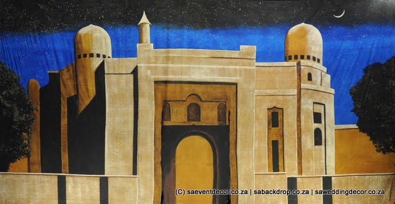 Barca04 Arabian Palace Entrance Theme Backdrop