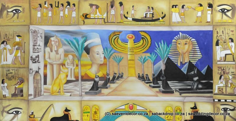 Bacegy01 Egyptian Themed Backdrop Hire
