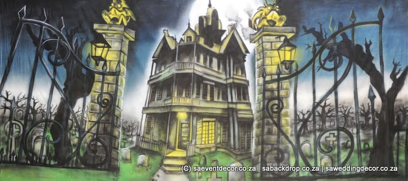Bachal01 Halloween Themed Backdrop hire