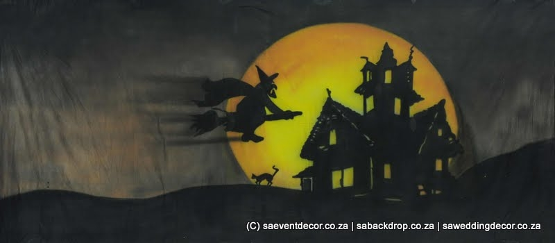 Bachal03 Halloween Themed Backdrop hire