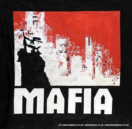 Bacmaf02 Mafia Themed backdrop Hire