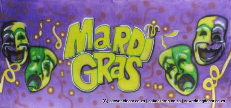 Bacmar01_Mardigras Festive Masks Backdrop Themed backdrop Hire
