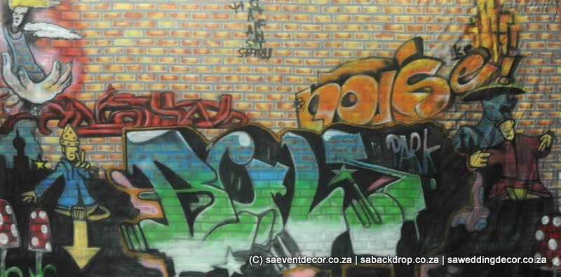 Bacthe10 Graffiti Wall Themed backdrop Hire