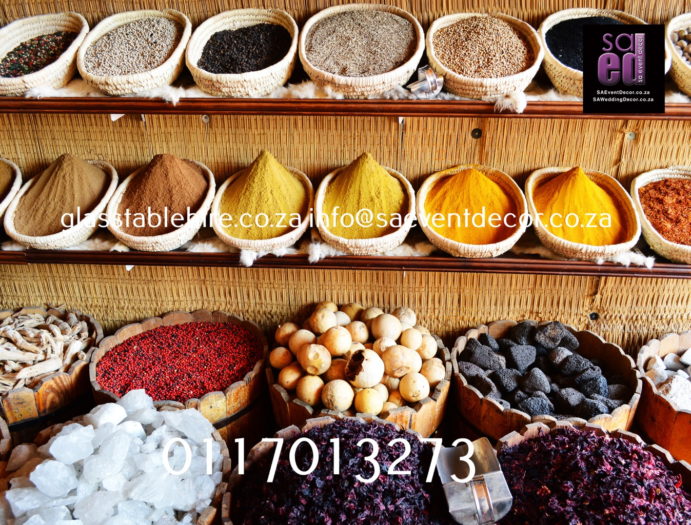 Spice Market Themed backdrop Hire