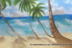 BacHaw04 Hawaii Beach Party Themed Backdrop hire