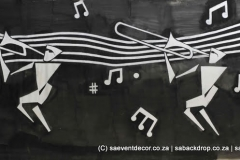 BacJaz01 Jazz Themed Backdrop hire