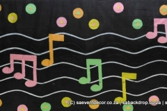 BacMus04 Musical Rock Roll Themed backdrop Hire