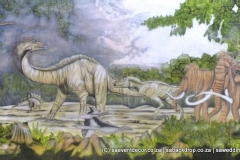 Bacevo01 Evolution Dinosaur Age Themed Backdrop Hire
