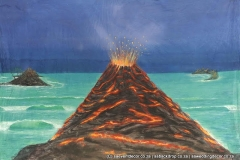 Bacfir03 Fire And Ice Volcano Island Themed Backdrop hire
