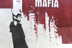 Bacmaf01 Mafia Themed backdrop Hire