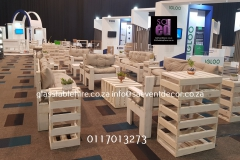 White Washed Cocktail Furniture In Pallet Wood