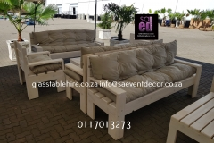 White Washed  Double-Seater Couch In Pallet Wood