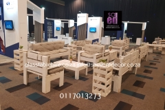 White Washed Cocktail Lounge Function Furniture In Pallet Wood