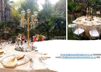 Garden Wedding decor by SA Wedding Decor 14