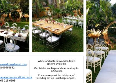 Garden Wedding decor by SA Wedding Decor 15