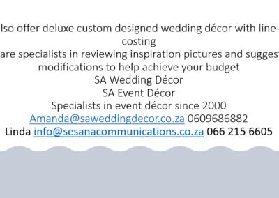 Garden Wedding decor by SA Wedding Decor 16