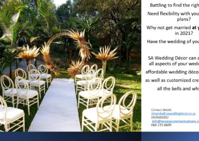 Garden Wedding decor by SA Wedding Decor 2