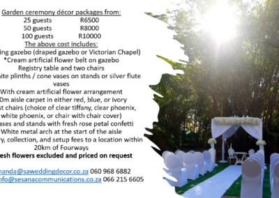 Garden Wedding decor by SA Wedding Decor 3