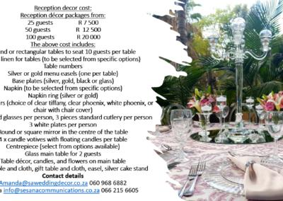Garden Wedding decor by SA Wedding Decor 4
